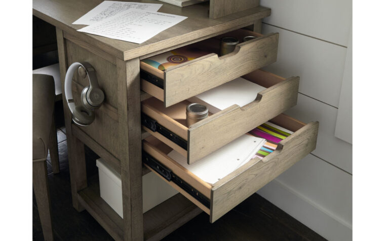 Jr. Study Hall Executive Desk with Hutch - drawer detail