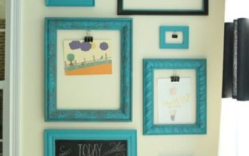 Turquoise Frames Kids' Display - by Less Than Perfect Life Of Bliss