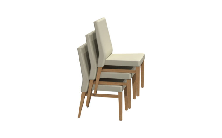 Stacked Upholstered Dining Chairs