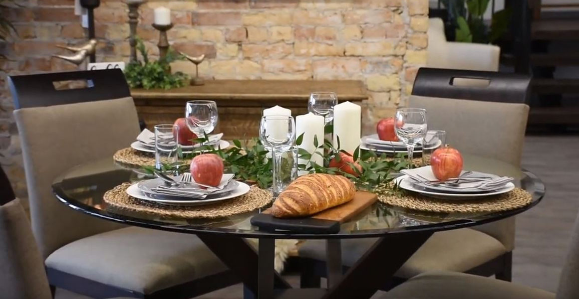 Deciding on a Dining Room Table - Fall tablescape