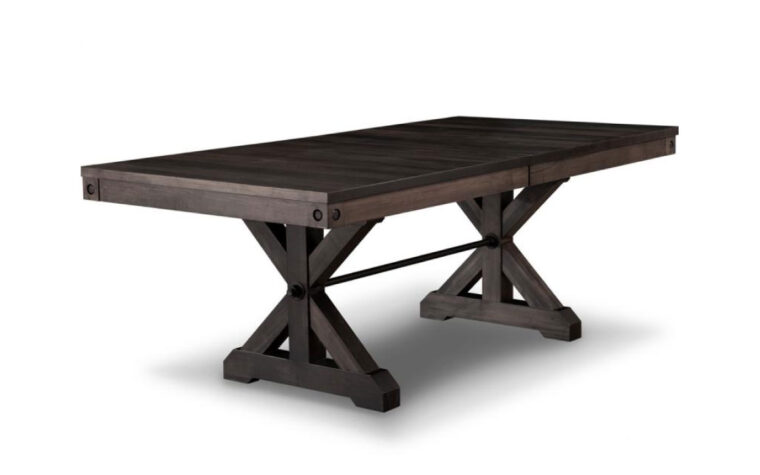 Rafters Trestle Dining Table by Handstone