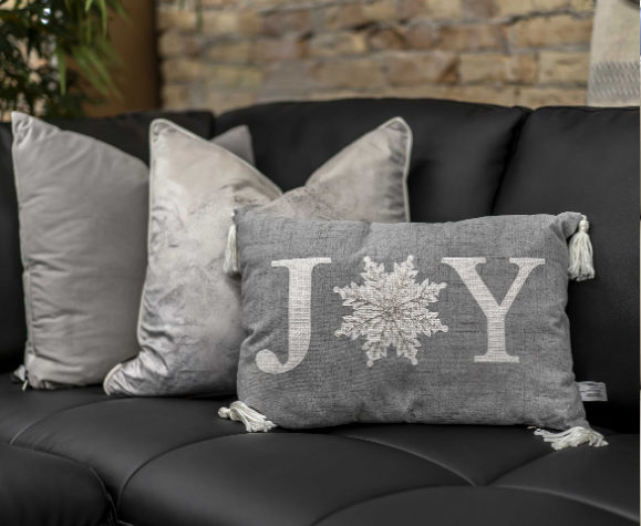 JOY - Christmas-themed pillow (inexpensive gifts)