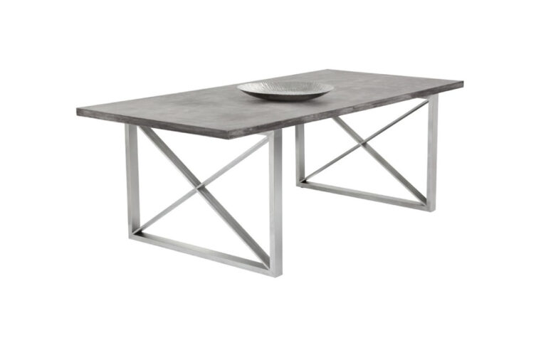 Catalan Dining Table-Concrete Top