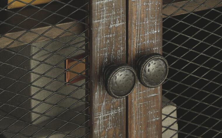 Danell Ridge Rectangular End Table - hardware detail