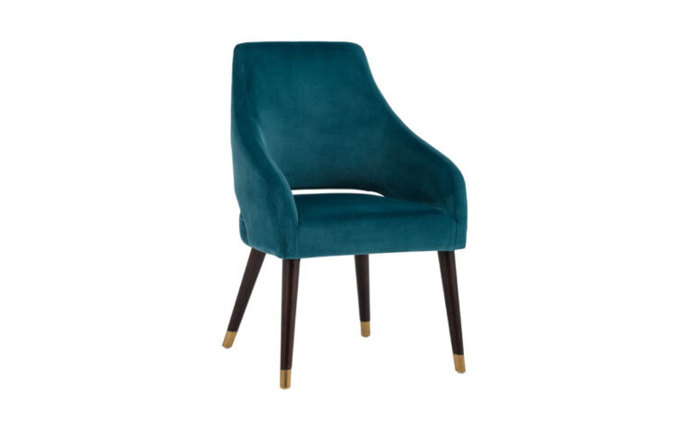 Adelaide Dining Armchair-teal