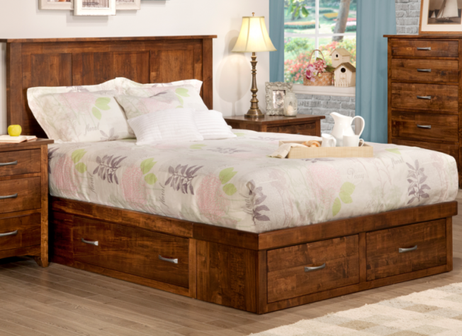 Glengarry bedroom collection with under-bed storage