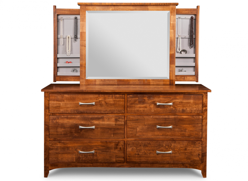 Johurst bedroom collection with in-mirror jewellery storage