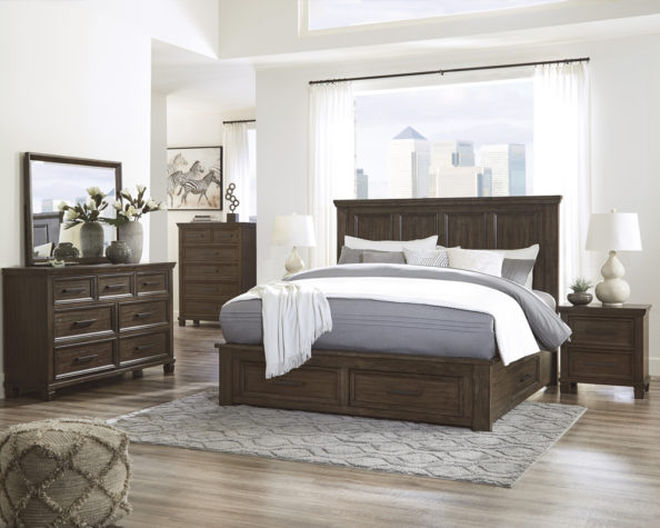 Johurst bedroom collection with under-bed storage