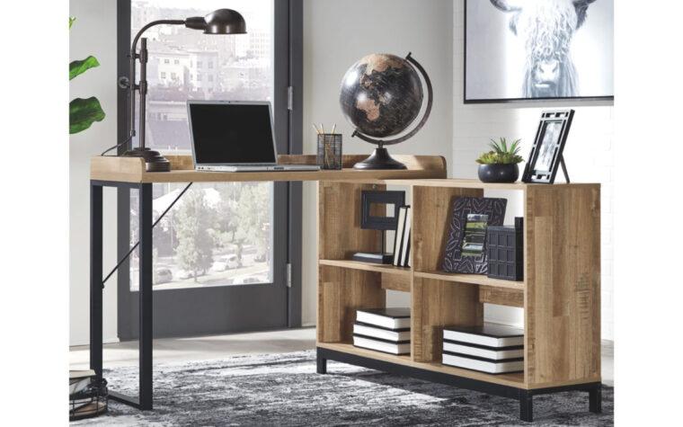 Gerdanet L-Desk - Ashley home office room shot
