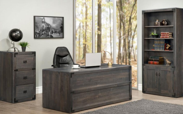 Saratoga Executive Desk - room shot - Handstone Furniture