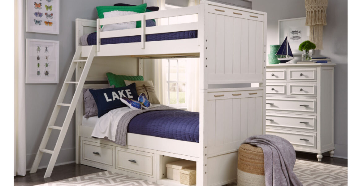 Lake House Bunk Bed by Legacy Classic Kids - white