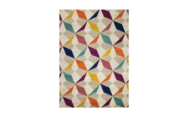 Brighton Area Rug by Kalora - multi-coloured geometric pattern on contemporary area rug