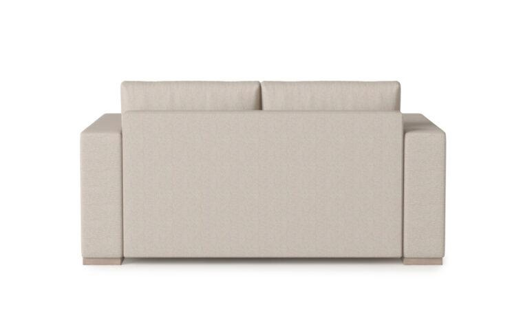 Broadway Loveseat - Vogel by Chervin - kismet linen - 2 over 2 cushions - back side