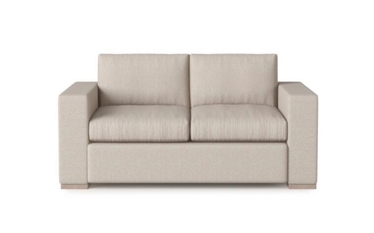 Broadway Loveseat - Vogel by Chervin - kismet linen - 2 over 2 cushions