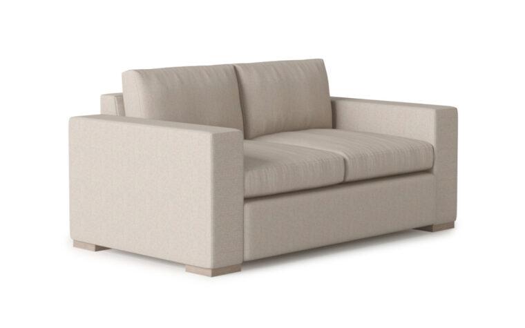 Broadway Loveseat - Vogel by Chervin - kismet linen - 2 over 2 cushions - quarter turn