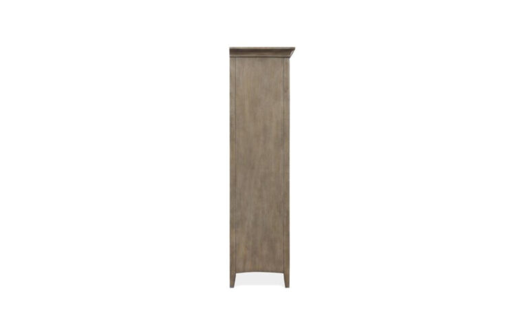 B4805-13 Paxton Place Door Chest - Dovetail Gray finish on transitional door chest - side view