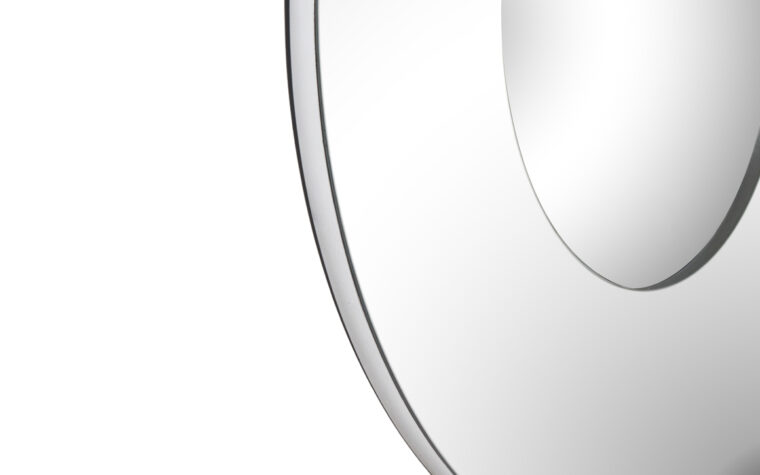 Bangkok Mirror - Renwil - large mirror with 2 silver, round layers designed by Jonathan Wilner