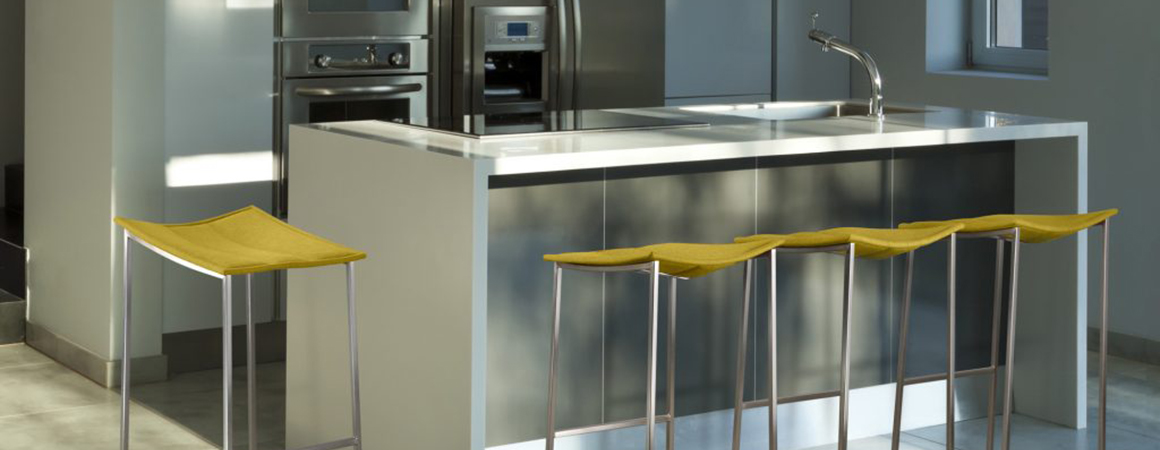 A Simple Guide to Stools - Chervin Furniture & Design - Bocca stools by Trica (yellow leather)