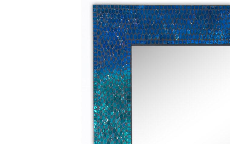 Blue Catarina Mirror - Renwil - mosaic, sea blue frame