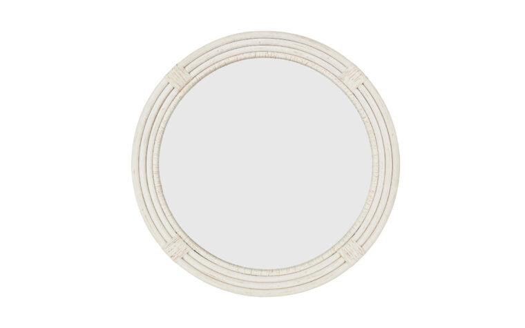 Coastal Mirror - Renwil - nautical, whitewashed, round mirror with 4 layers of frame