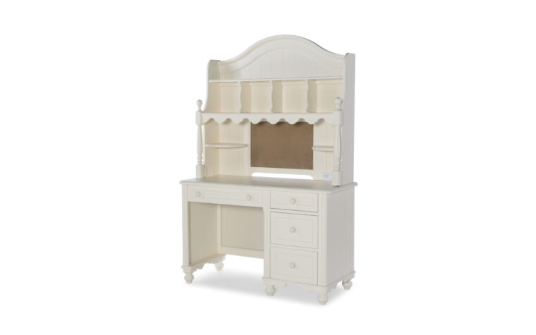 6481-6100-6200 - Summerset Desk Set - complete desk and hutch - playful, vintage/traditional ivory kid's desk set