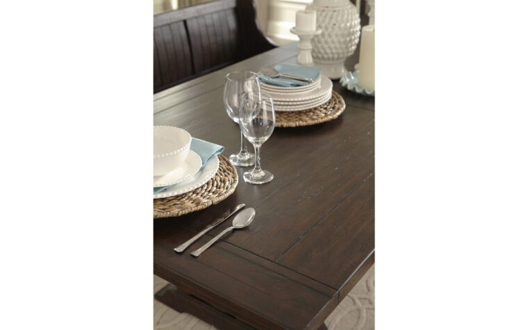 St. Claire Rectangular Dining Table - tabletop detail - Magnussen