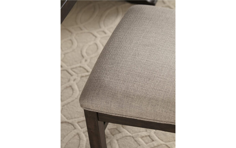 St. Claire Dining Side Chair - Magnussen - close-up on upholstered seat