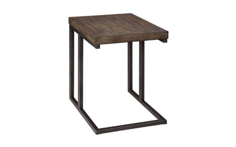 Industrial modern style end table