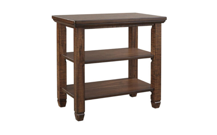 Wood chairside end table