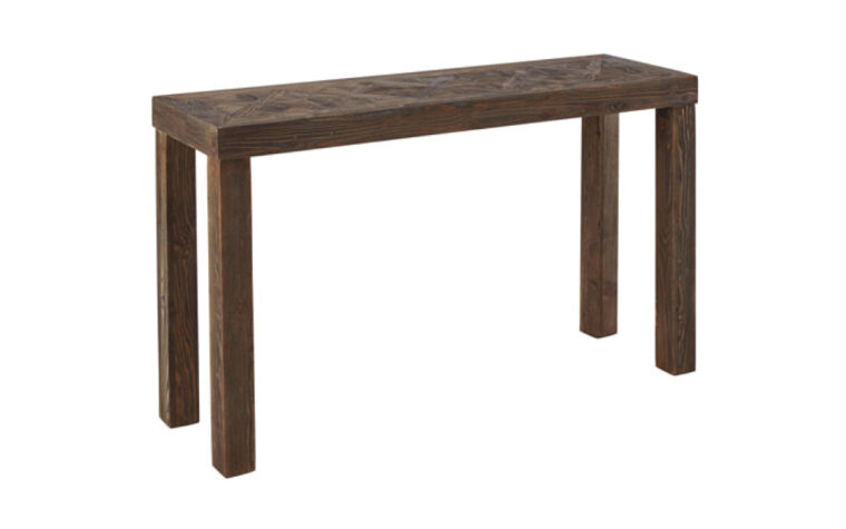 Rustic modern wood console table