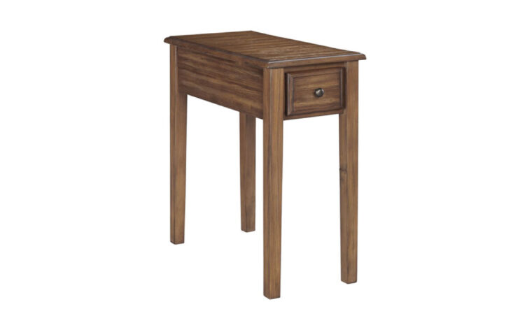 Solid wood chairside end table