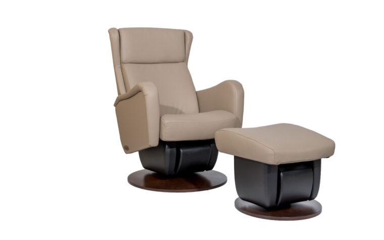San Fransisco chair and ottoman by Dutalier in beige