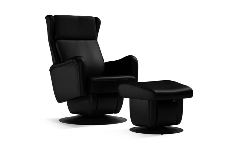 San Fransisco chair and ottoman by Dutalier in black