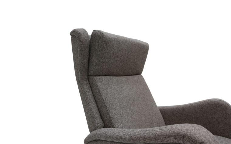 San Fransisco chair and ottoman by Dutalier headrest detail