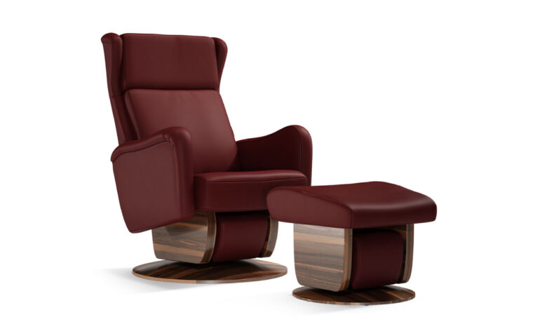 San Fransisco chair and ottoman by Dutalier in red