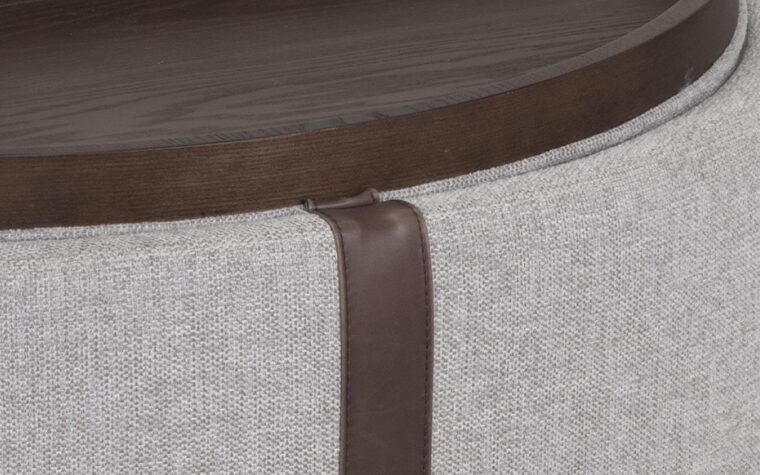 borelli wheeled storage ottoman detail