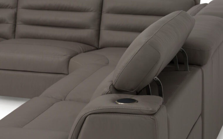 Power headrest tilt detail