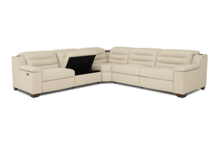 white contemporary sofa with under seat storage