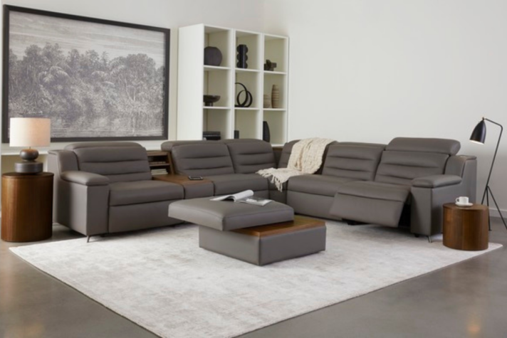 contemporary grey sectional with hidden storage