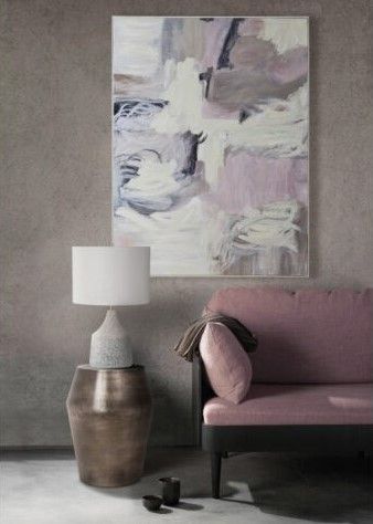 Hanging artwork above furniture and around decor items
