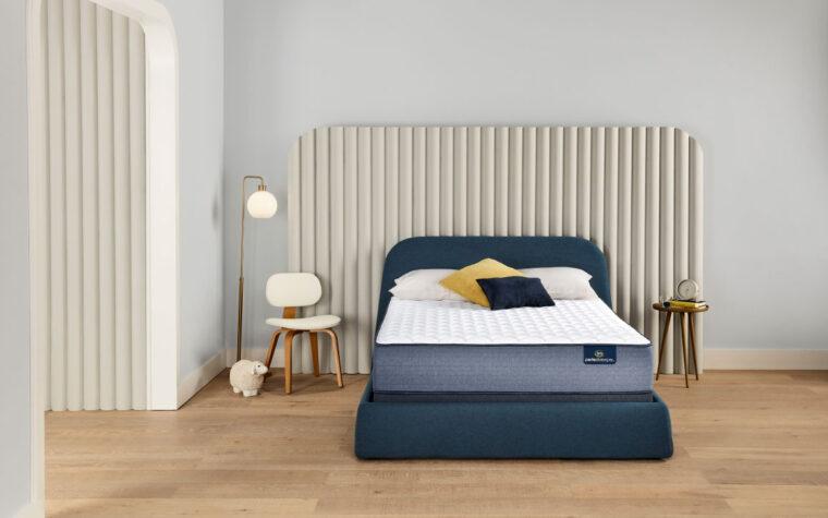 escape serta mattress on a blue bed